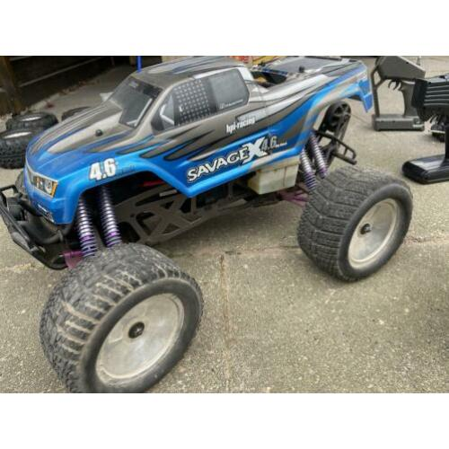 Hpi savage X 4,6cc bigblock met heel veel upgrades en parts